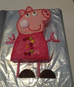 simple kids peppa pig birthday cake