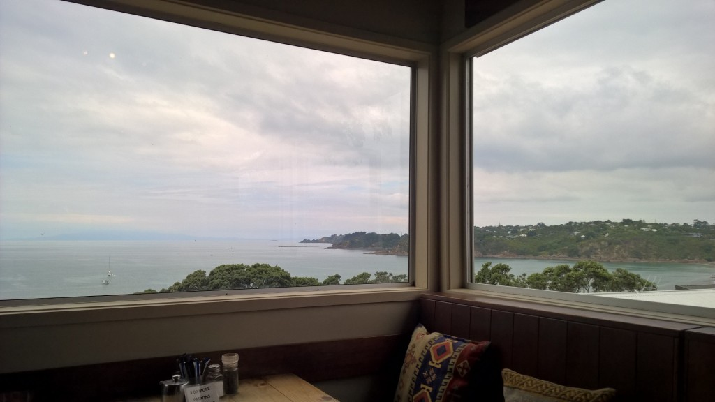 view from my favourite cafe waiheke