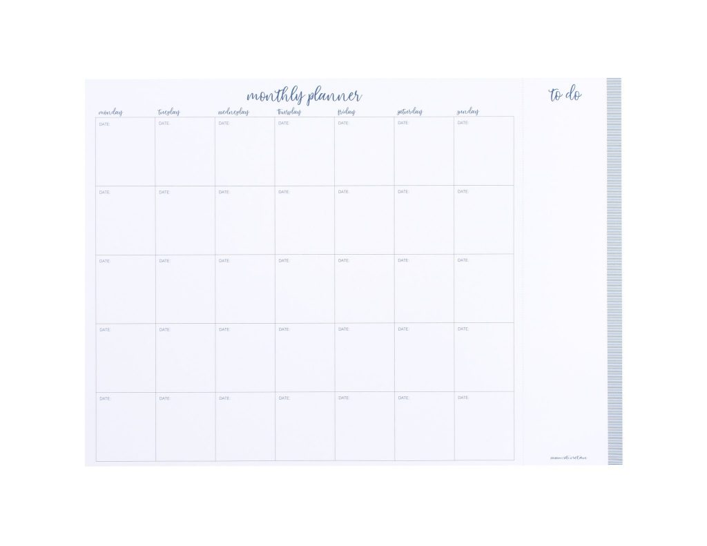 oti monthly planner